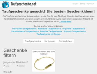 taufgeschenke.net screenshot