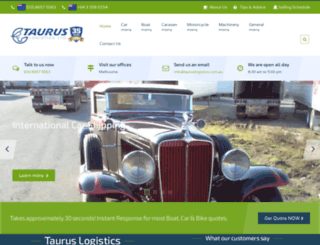 tauruslogistics.com.au screenshot