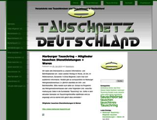 tauschboersen-verzeichnis.de screenshot