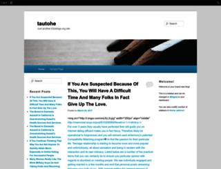 tautohe.edublogs.org screenshot