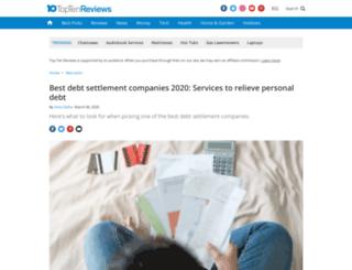 tax-debt-relief-services-review.toptenreviews.com screenshot