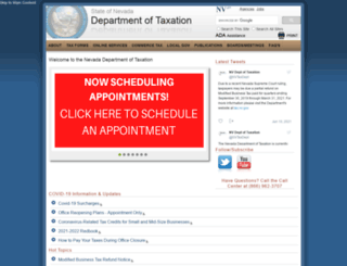 tax.state.nv.us screenshot