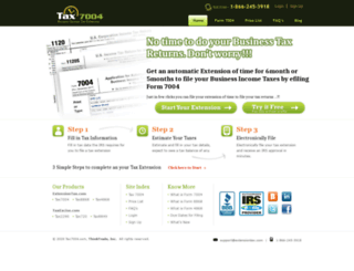 tax7004.com screenshot