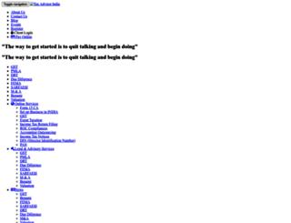 taxadvisorindia.in screenshot
