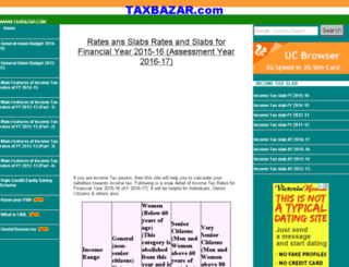 taxbazar.com screenshot
