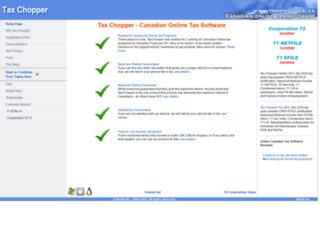 taxchopper.ca screenshot