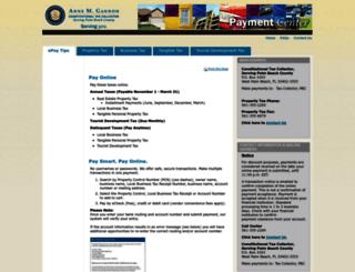 taxcollectorpbc.manatron.com screenshot