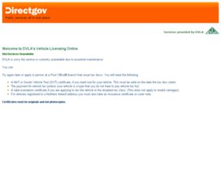 taxdisc.direct.gov.uk screenshot