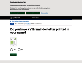 taxdisc.service.gov.uk screenshot