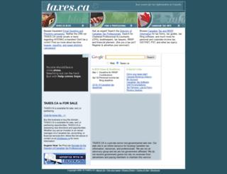taxes.ca screenshot
