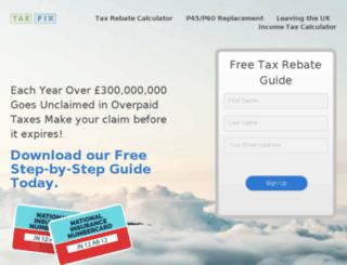 taxfix.co.uk screenshot