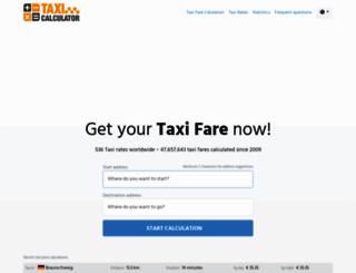 taxi-calculator.com screenshot