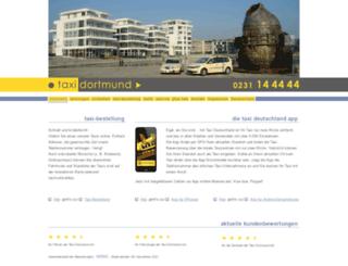 taxi-dortmund.de screenshot