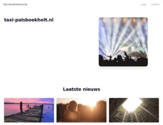 taxi-palsboekholt.nl screenshot
