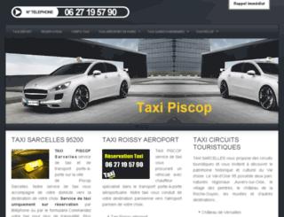 taxi-piscop.fr screenshot