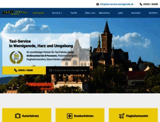 taxi-service-wernigerode.de screenshot