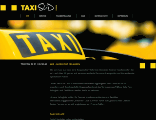 taxi-sued.de screenshot