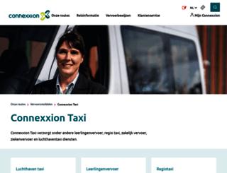 taxi.connexxion.nl screenshot