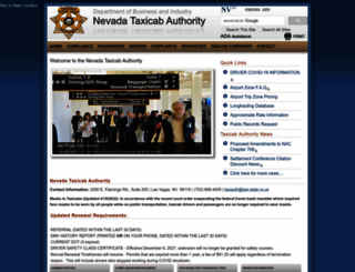 taxi.nv.gov screenshot