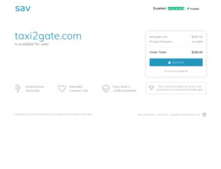 taxi2gate.com screenshot