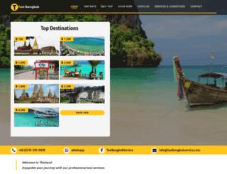 taxibangkokservice.com screenshot
