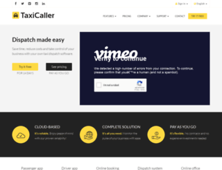 taxicaller.com screenshot