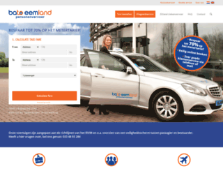 taxicentraleamersfoort.nl screenshot