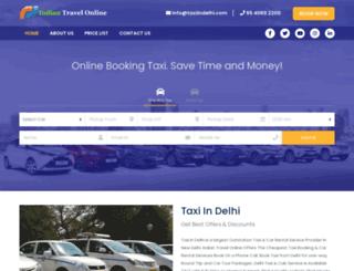 taxiindelhi.com screenshot