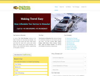 taxiserviceinhimachal.com screenshot