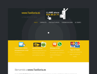 taxisoria.es screenshot