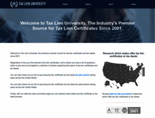 taxlienuniversity.com screenshot