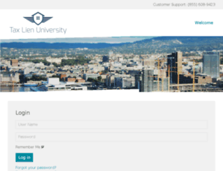 taxlienuniversity.net screenshot