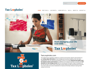 taxloopholes.com screenshot