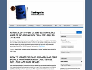 taxpage.in screenshot