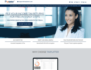 taxplatter.com screenshot