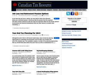 taxresource.ca screenshot