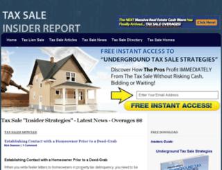taxsale.net screenshot