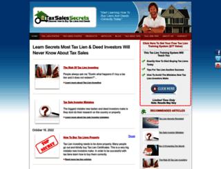 taxsalessecrets.com screenshot