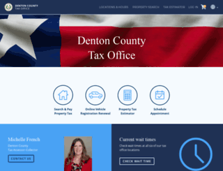 taxweb.dentoncounty.com screenshot