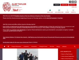 taylor.aliefisd.net screenshot