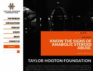 taylorhooton.org screenshot