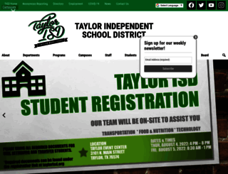 taylorisd.org screenshot