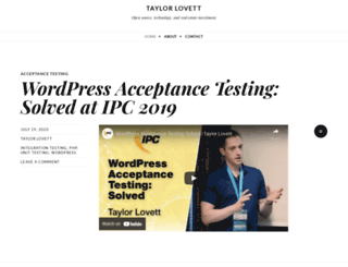 taylorlovett.com screenshot