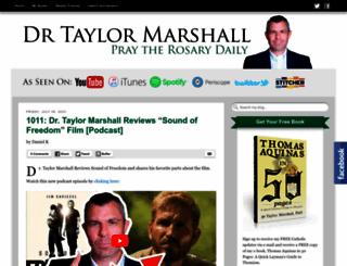 taylormarshall.com screenshot