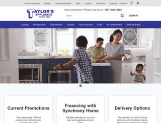 taylorsappliance.siteontime.com screenshot