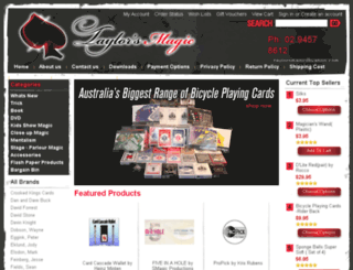 taylorsmagic.com.au screenshot