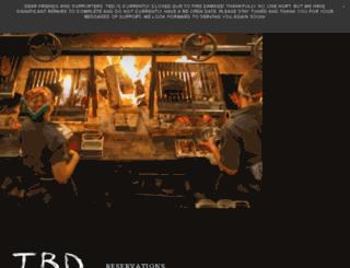 tbdrestaurant.com screenshot