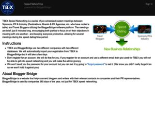 tbex.bloggerbridge.com screenshot