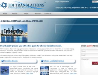 tbitranslations.com screenshot