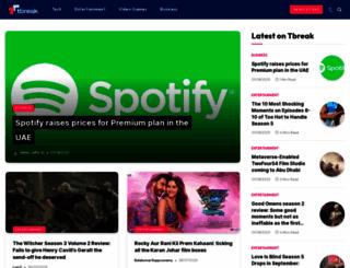 tbreak.com screenshot